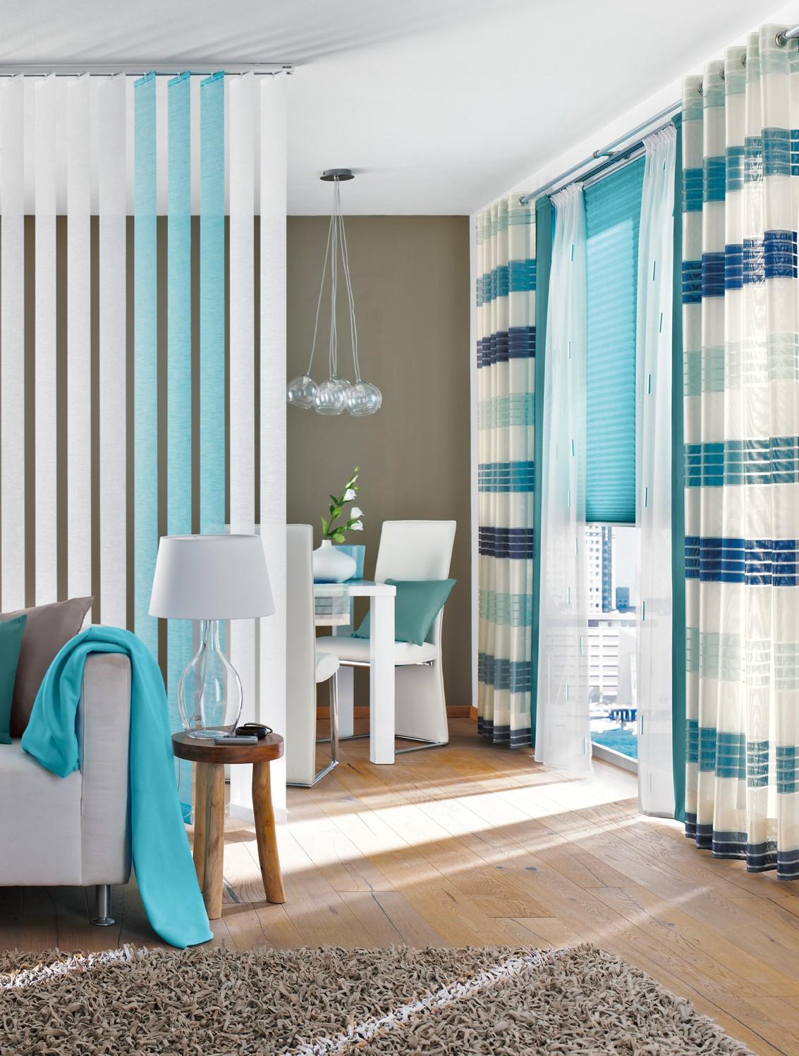 Gardinen Modern Wohnzimmer Braun