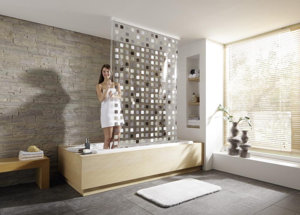 duschvorh nge die gardine. Black Bedroom Furniture Sets. Home Design Ideas