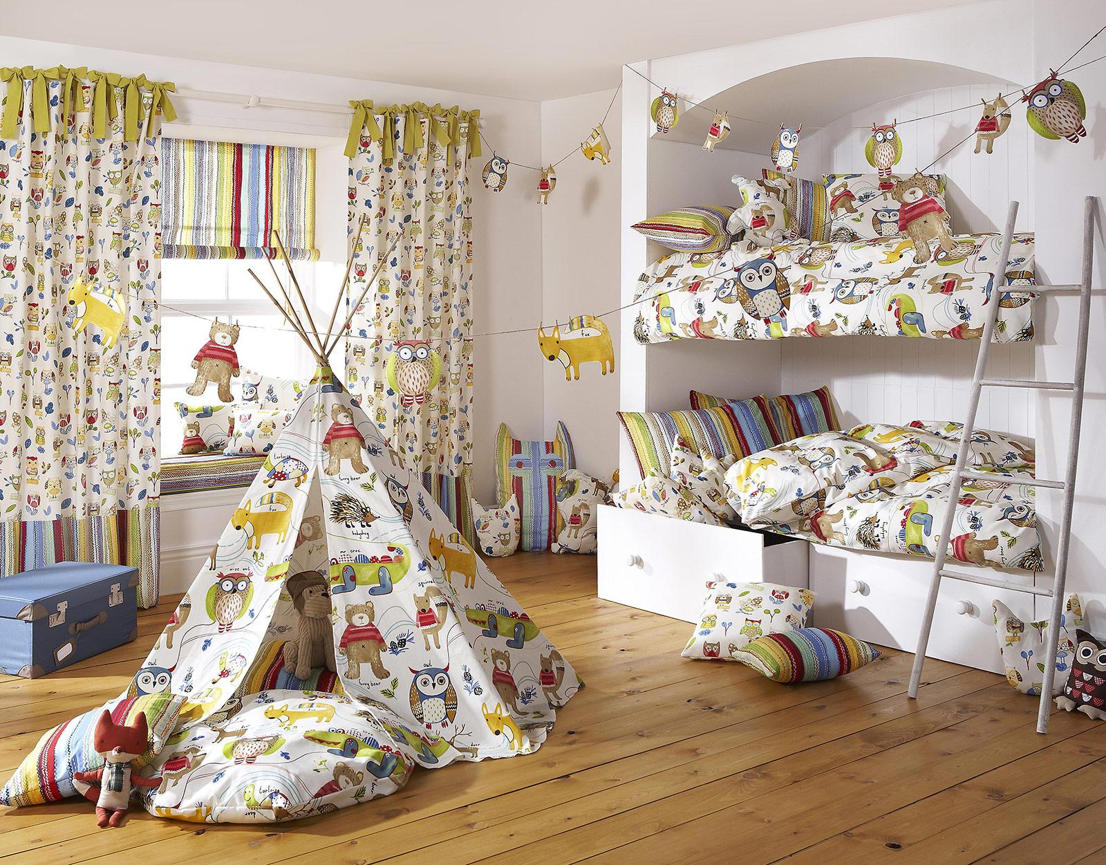 Kinderzimmer - Forest Friends Boys - Die Gardine Brühl - Nils Jansen - Raumausstattung