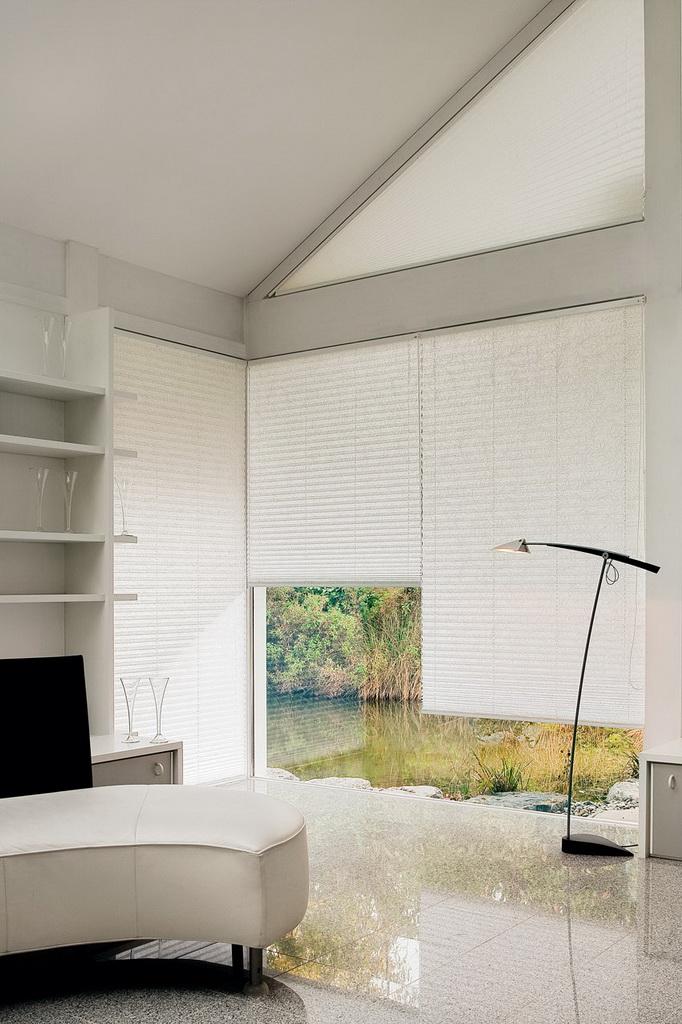 plissee vorh nge die gardine. Black Bedroom Furniture Sets. Home Design Ideas