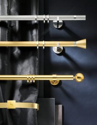 Gardinenstange aus Messing - Polo - Die Gardine Brühl - Nils Jansen