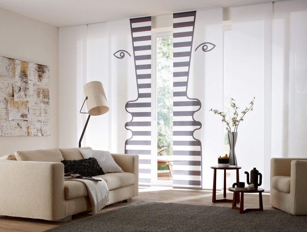 digitaldruck die gardine. Black Bedroom Furniture Sets. Home Design Ideas
