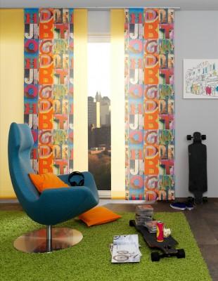 Digitaldruck - Teba - Flächenvorhang - Die Gardine Brühl - Nils Jansen - Raumausstatter